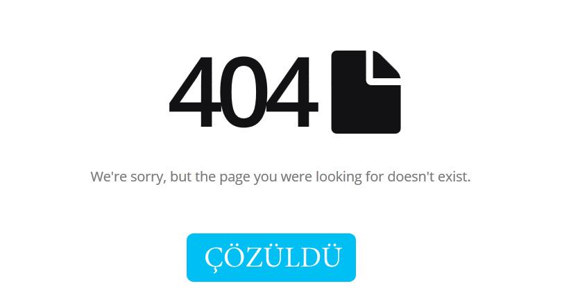 Site Haritası Sayfam 404 hatası veriyor