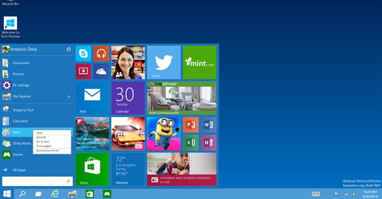Windows 10 Ekran Görüntüleri