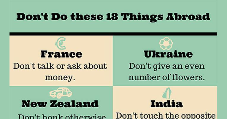 Bu 18 Ülkede Bu 18 Şeyi Yapmayın