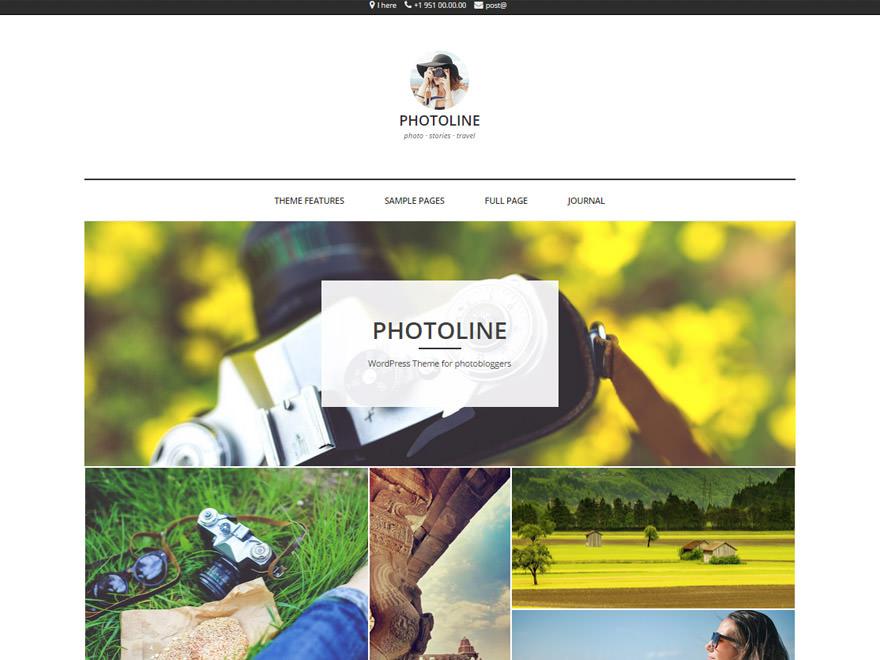 Ağustos 2015 En İyi WordPress Temaları - Fotoğrafçılık Teması